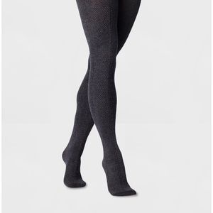 🔥3 for $25🔥 Pointelle Sweater Tights - S/M
